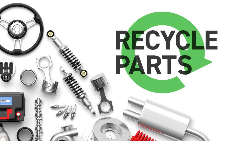 リサイクルパーツでお得な修理